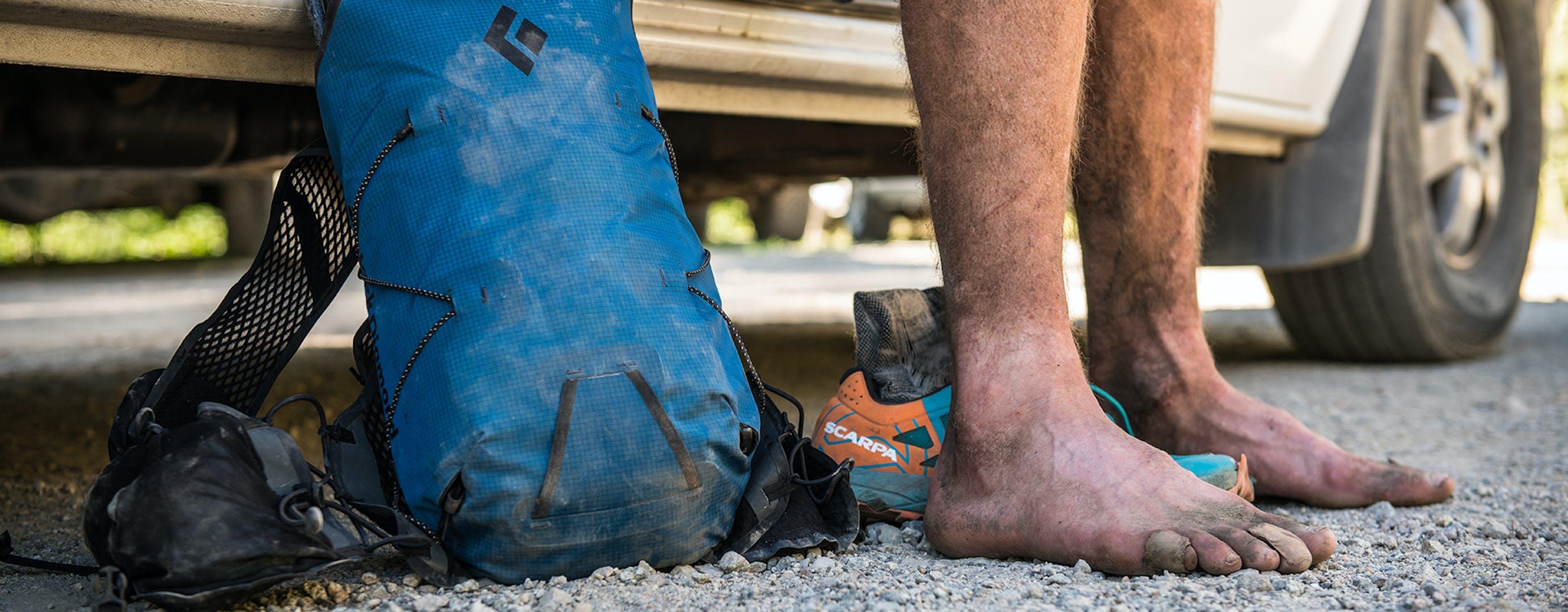 Joe Grants Gear and Feet.