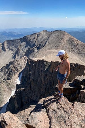 Kyle at the summit of Long PEak