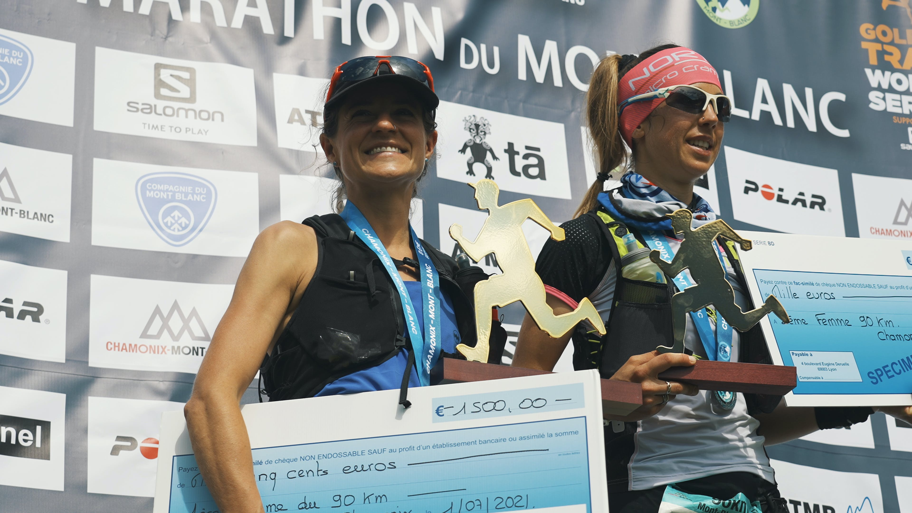 Black Diamond athlete Hillary Gerardi on the 90k du Mont Blanc podium