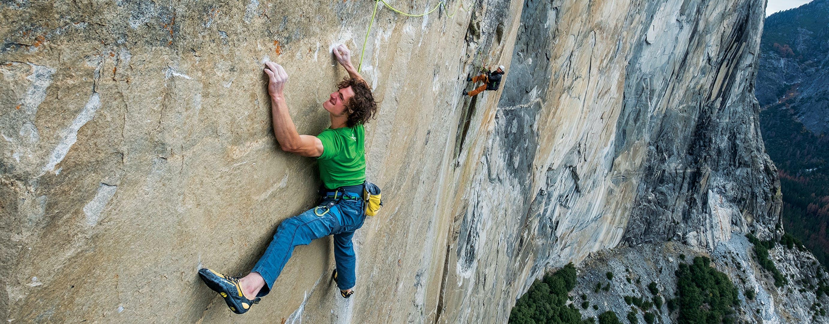 Adam Climbing.