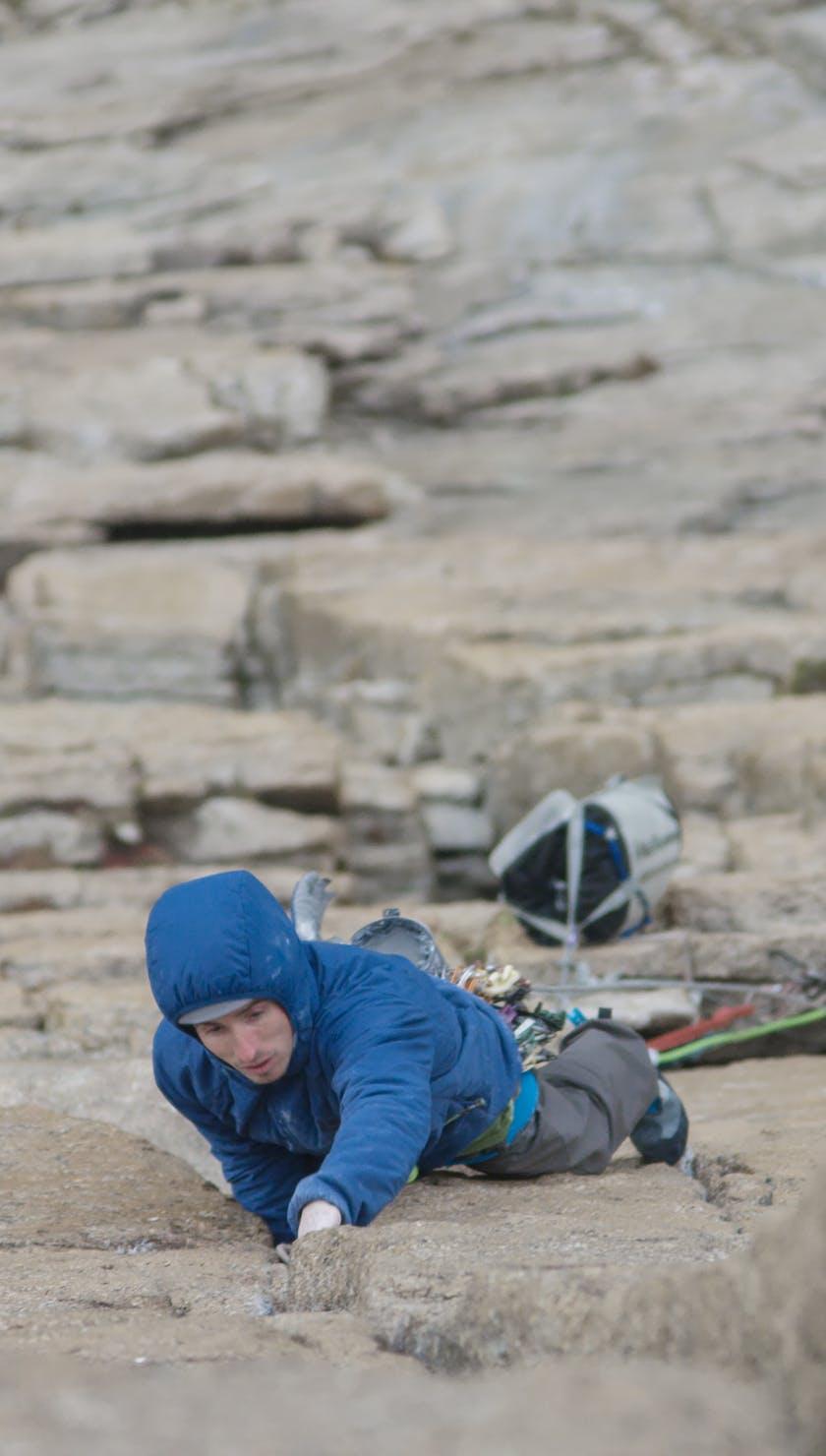 Carlo Traversi climbing
