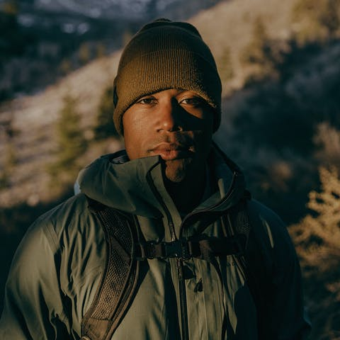 BD Ambassador Andrew King on a trail