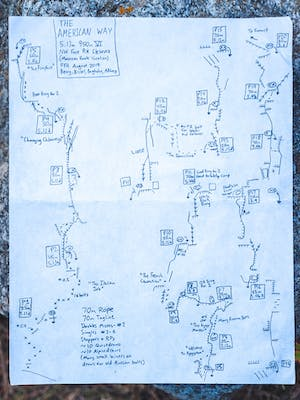 route sketched out
