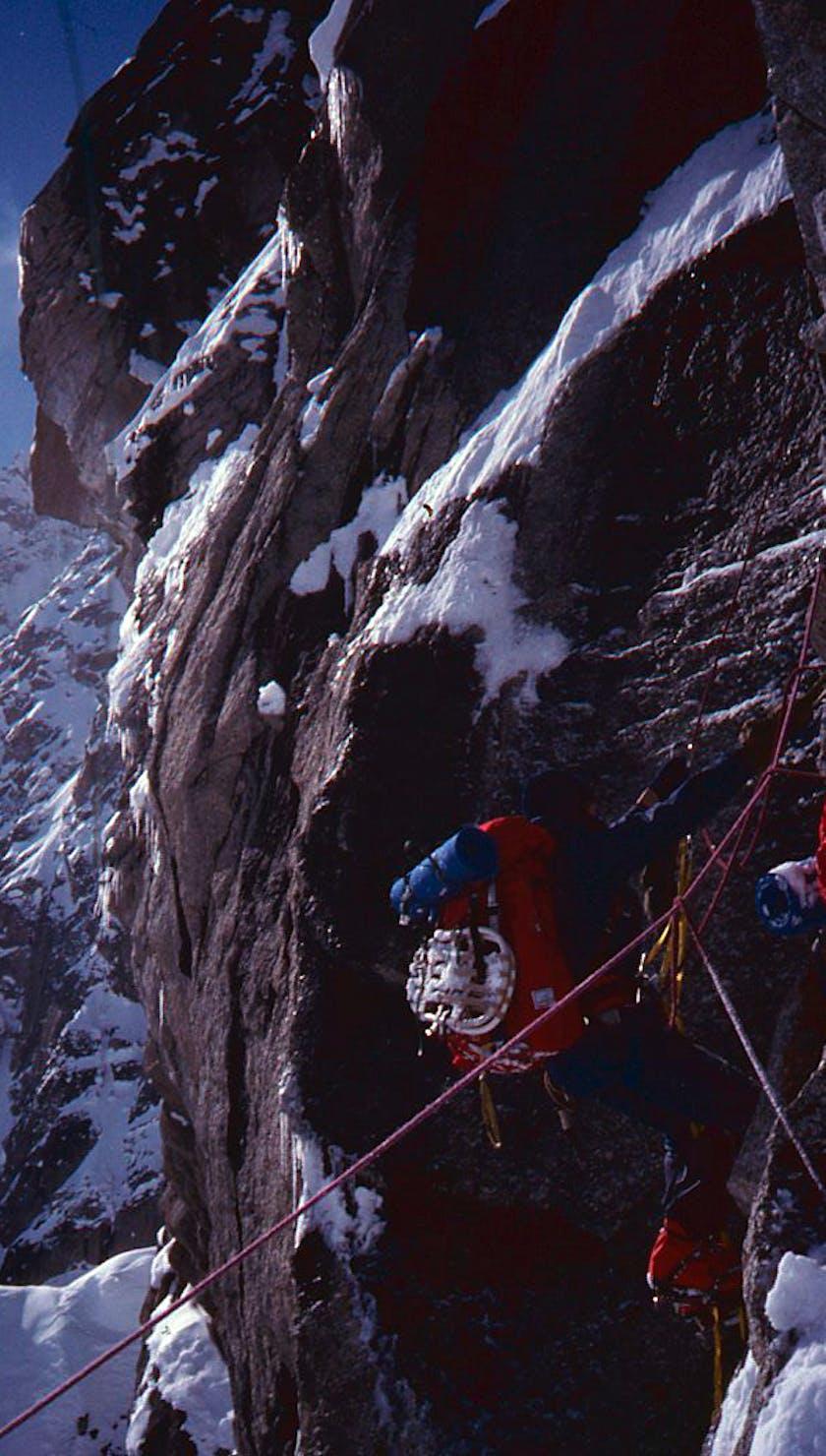 Peter Metcalf on Mt. Hunter