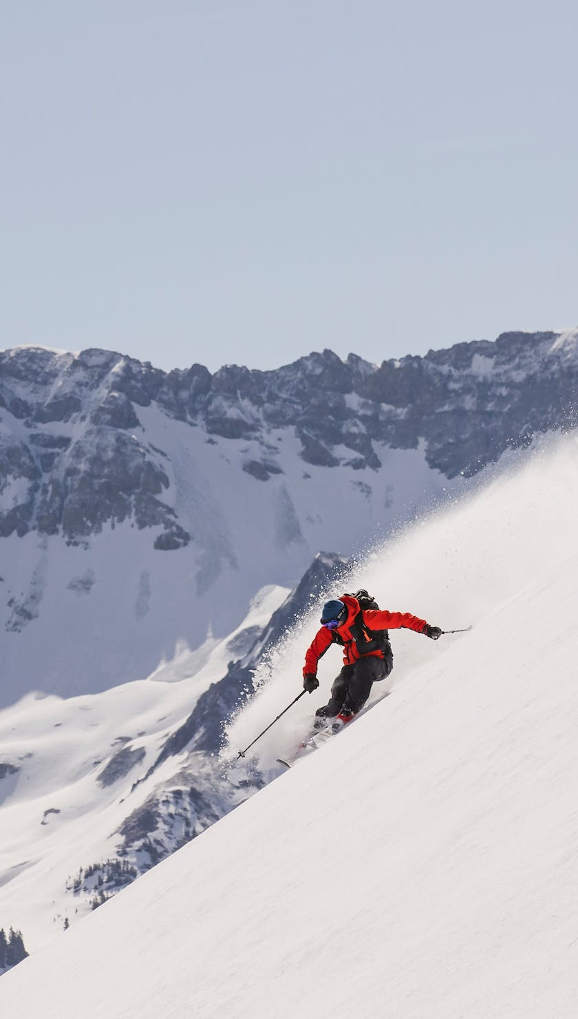 ripping on F20 skis