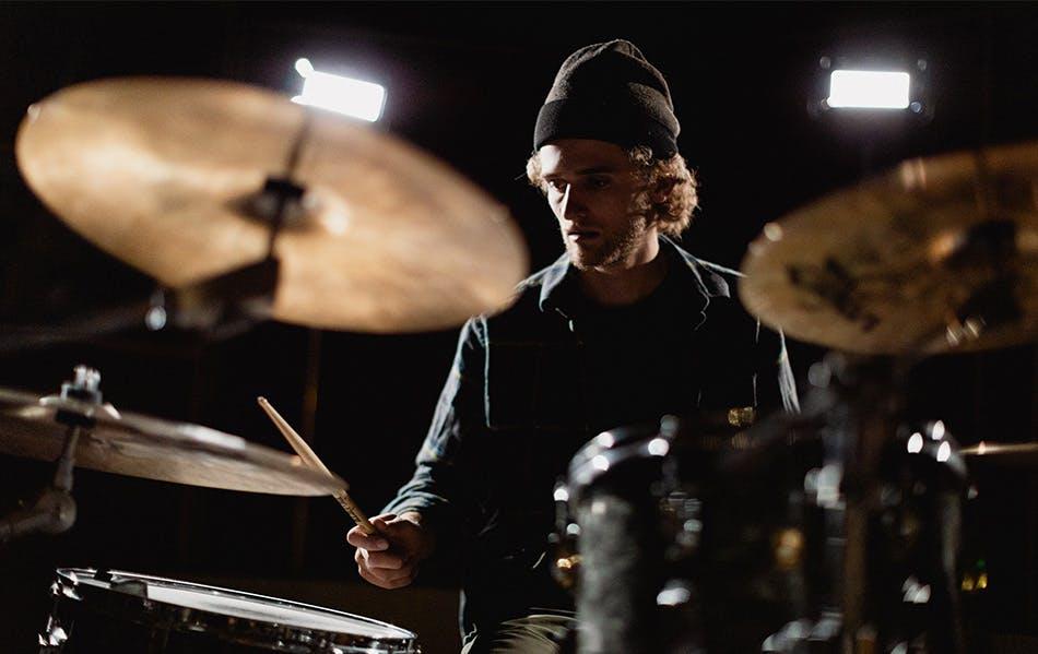 Kyle drumming