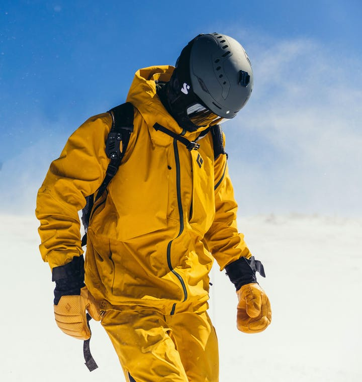 Black Diamond athlete Parkin Costain in the Mission Ski Shell.
