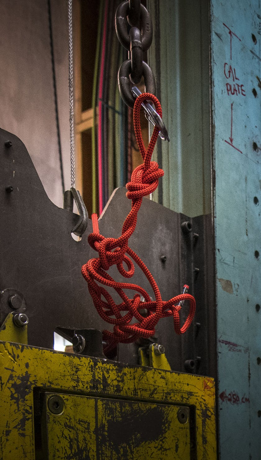 Twisted Climbing Rope