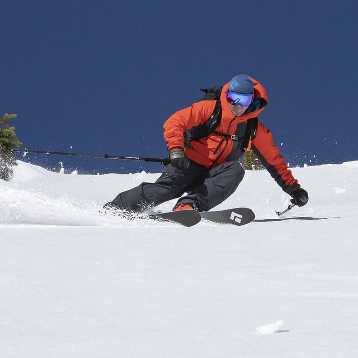 BD Athlete Michael Barney skiing the Silverton, CO backcountry