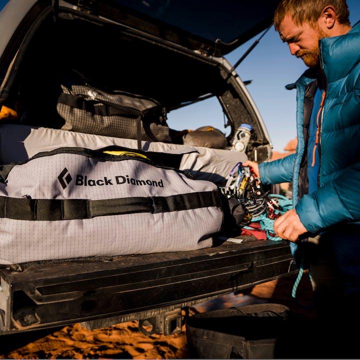 Preparing to trad climb at Indian Creek, Utah
