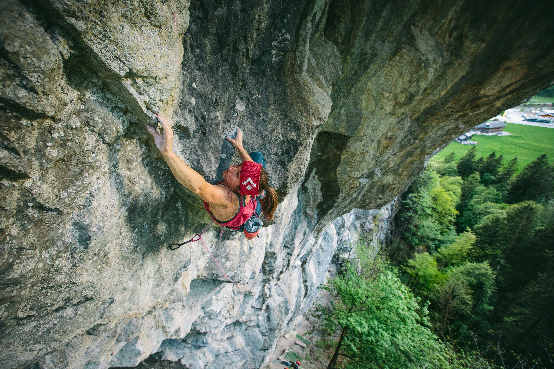 Babsi Zangerl sport climbing outdoors