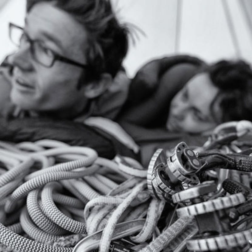 man and woman waking up with their BD rope
