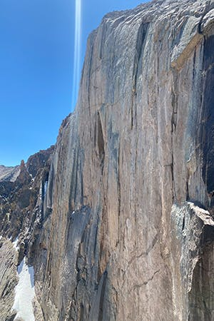 Photo of wall on Long Peak