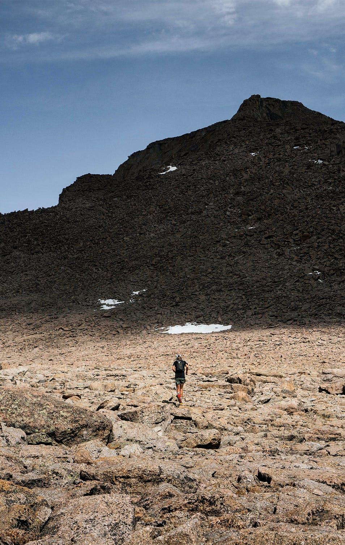 Kyle Richardson approaching Long Peak