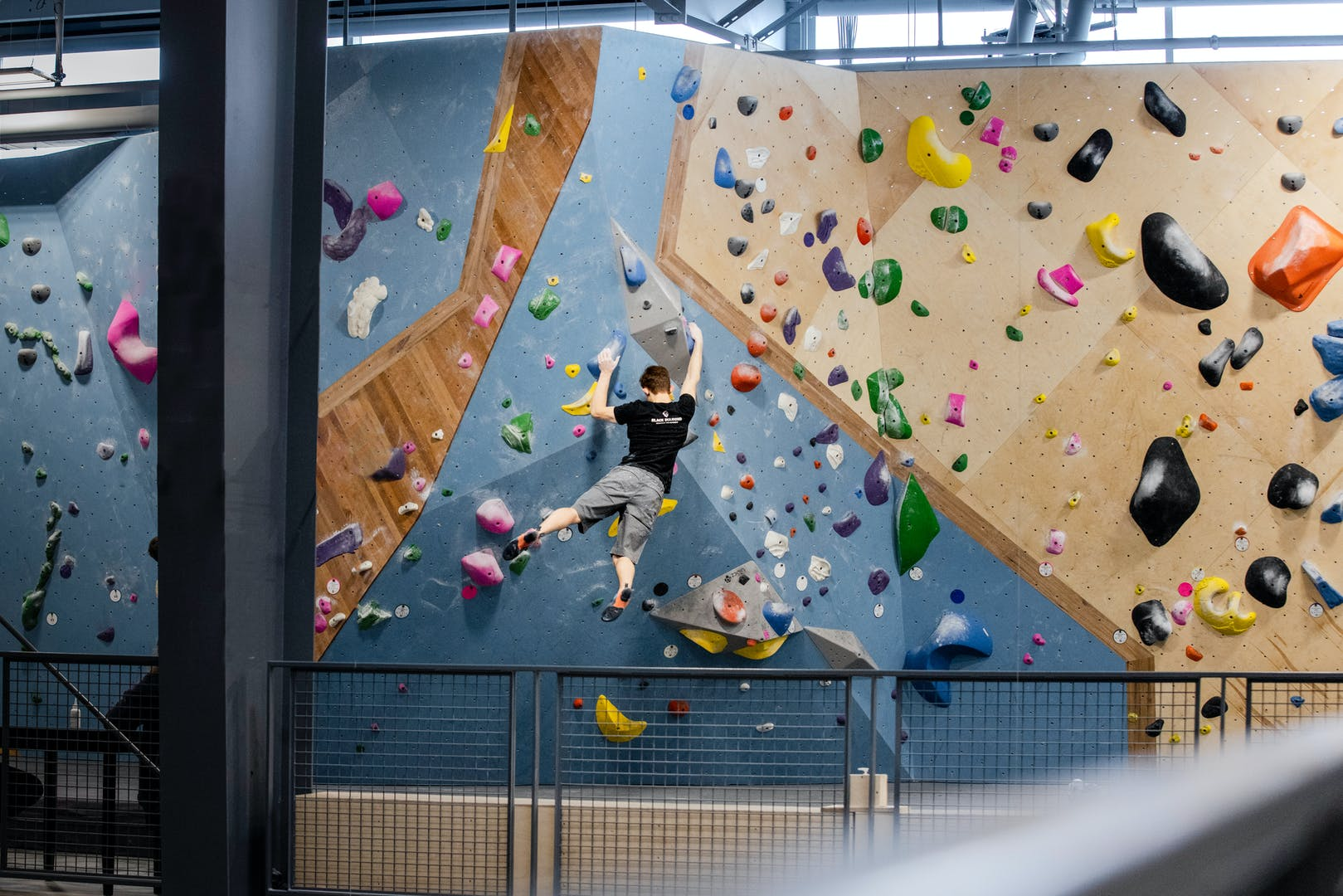 BD Athlete Colin Duffy climbing indoors