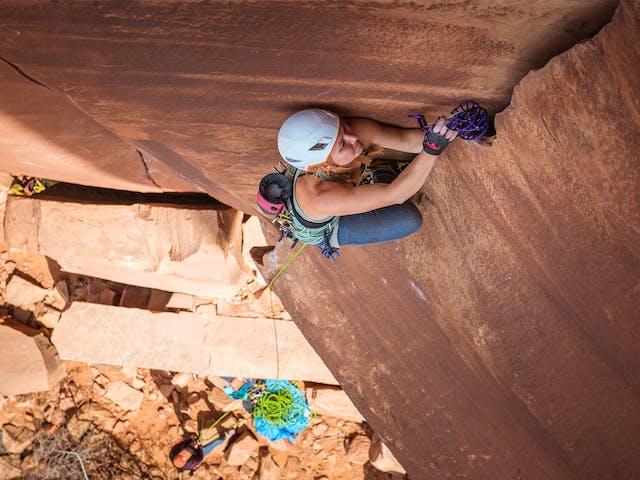 Hazel Findlay climbing