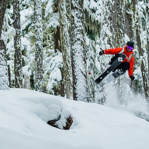 Tobin Seagel jumping through the trees