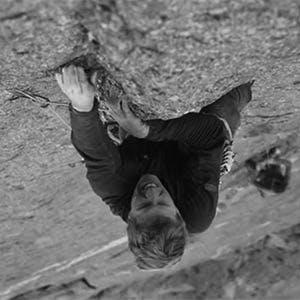 Nik Berry climbing