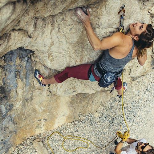 Colette climbing