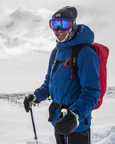 Skier Looking On