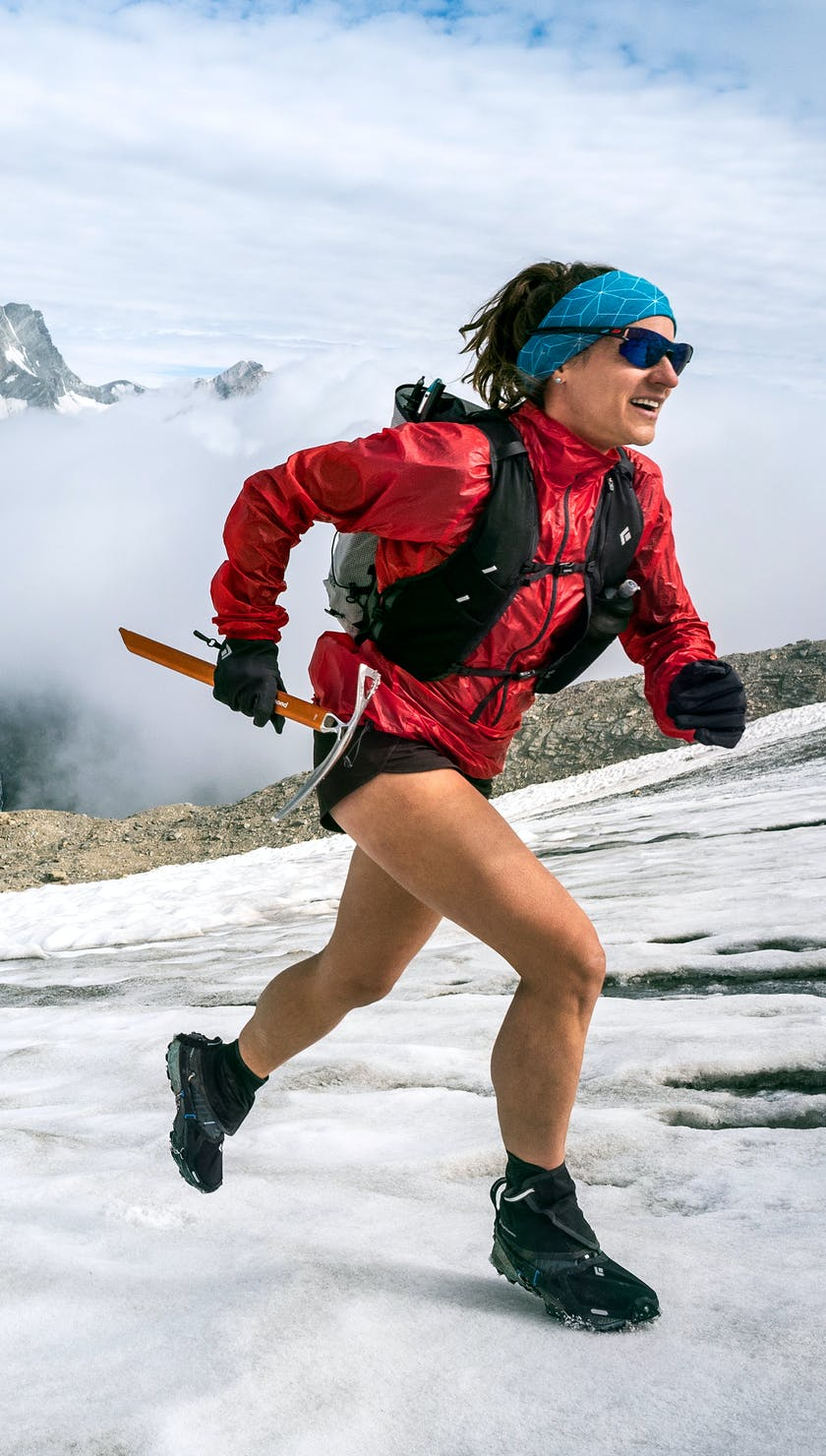 BD Athlete Hillary Gerardi running in the alps