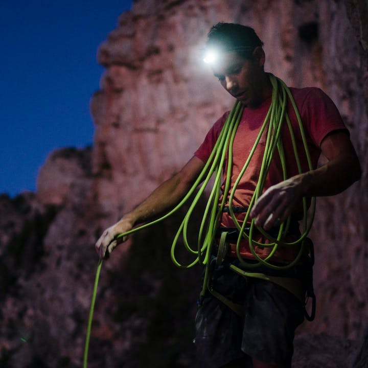 BD Athlete Alex Honnold coiling rope