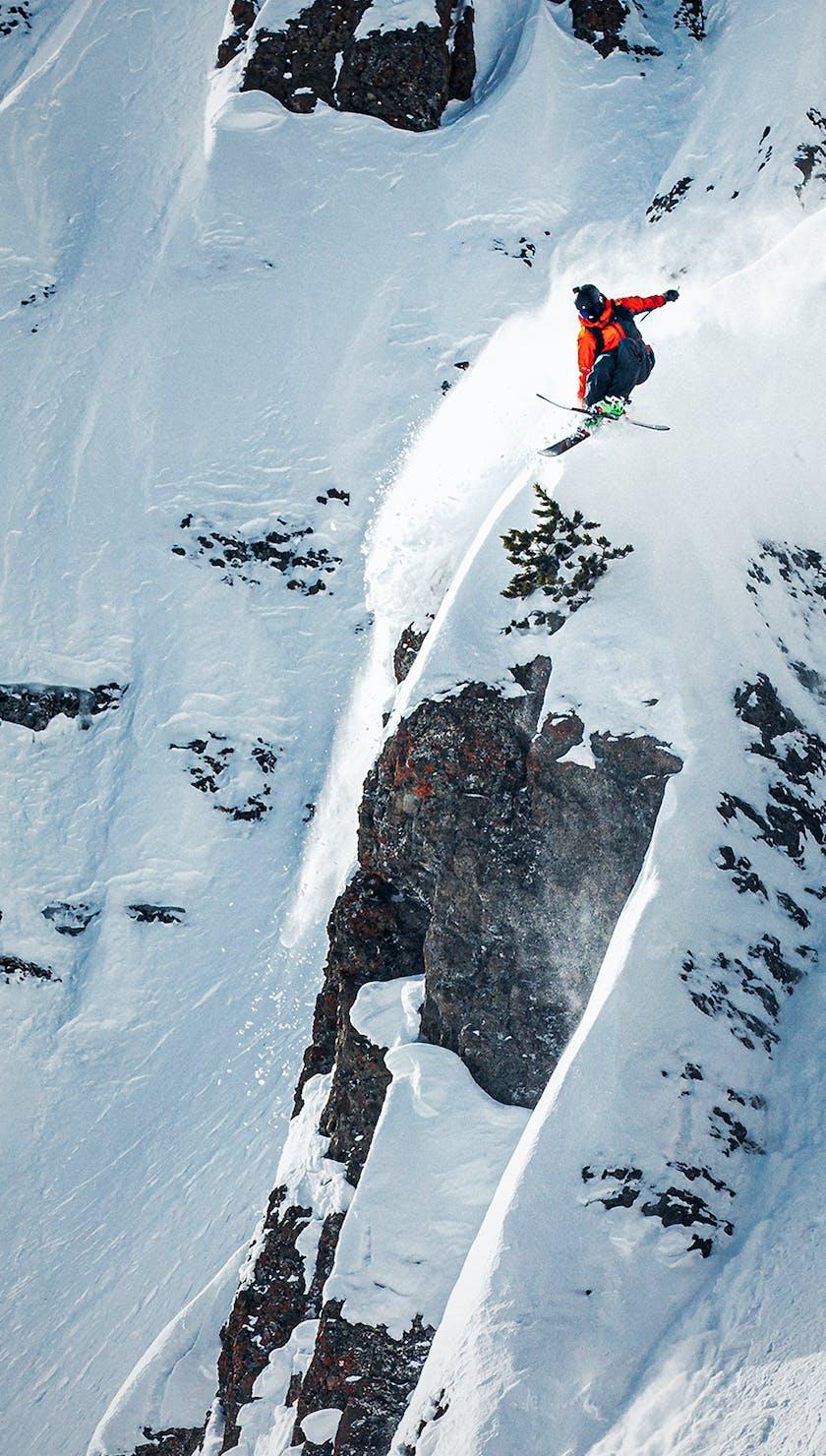 BD Athlete Parkin Costain sending it off a cliff