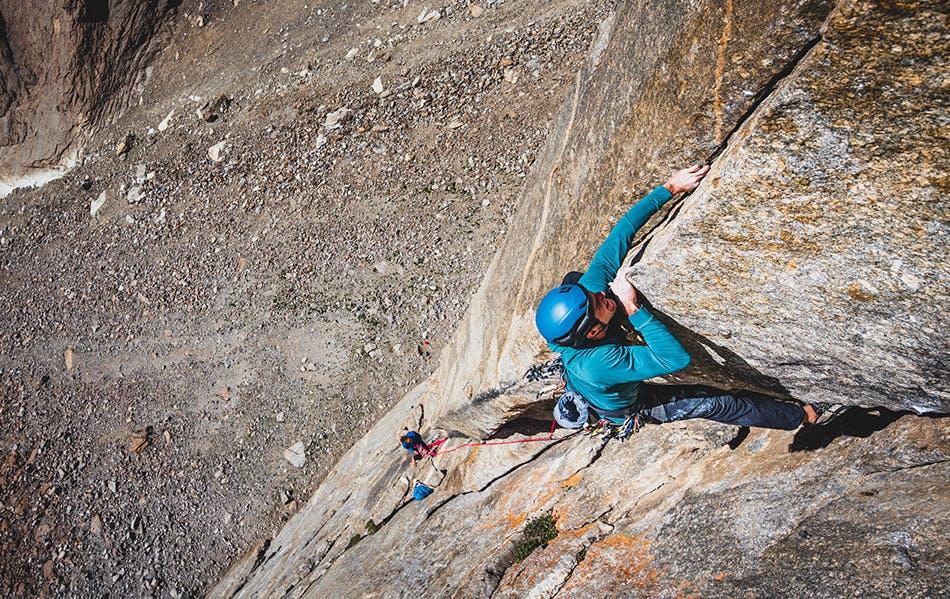 Brent Barghahn climbing a route