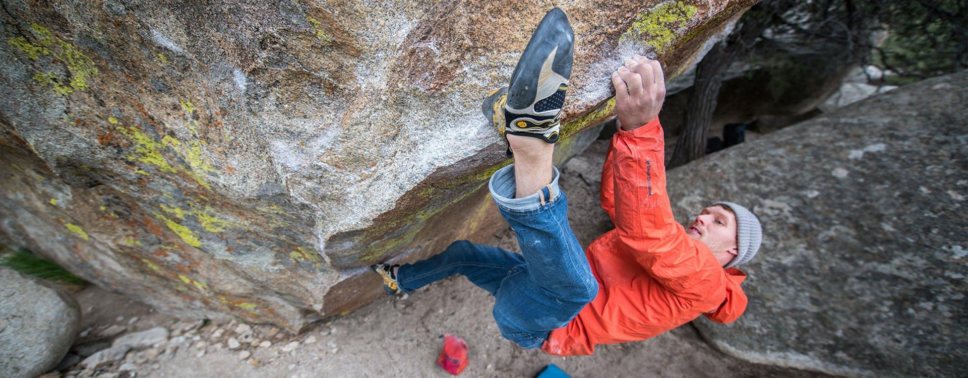 climber on a wall