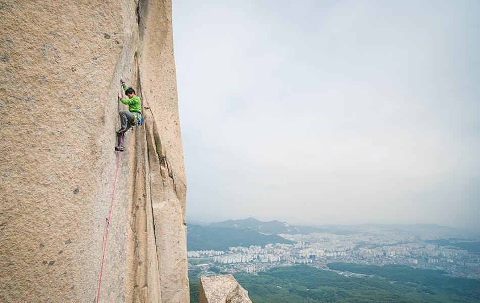 climbing in Korea