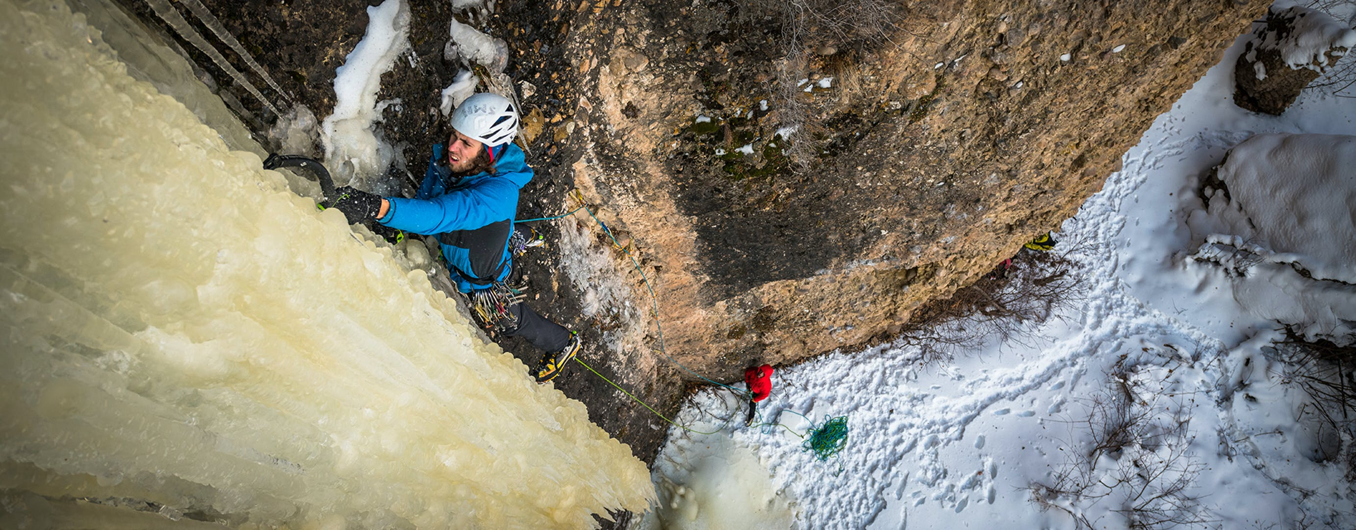 Jackson climbing Ice