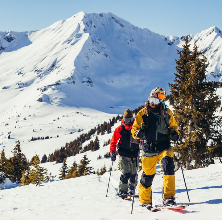 Black Diamond Athletes John and Eric Jackson touring in Crested Butte, CO.