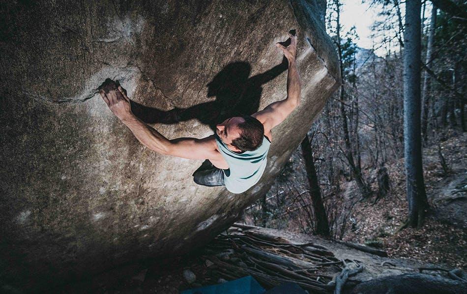 Carlo Traversi on the dreamtime boulder