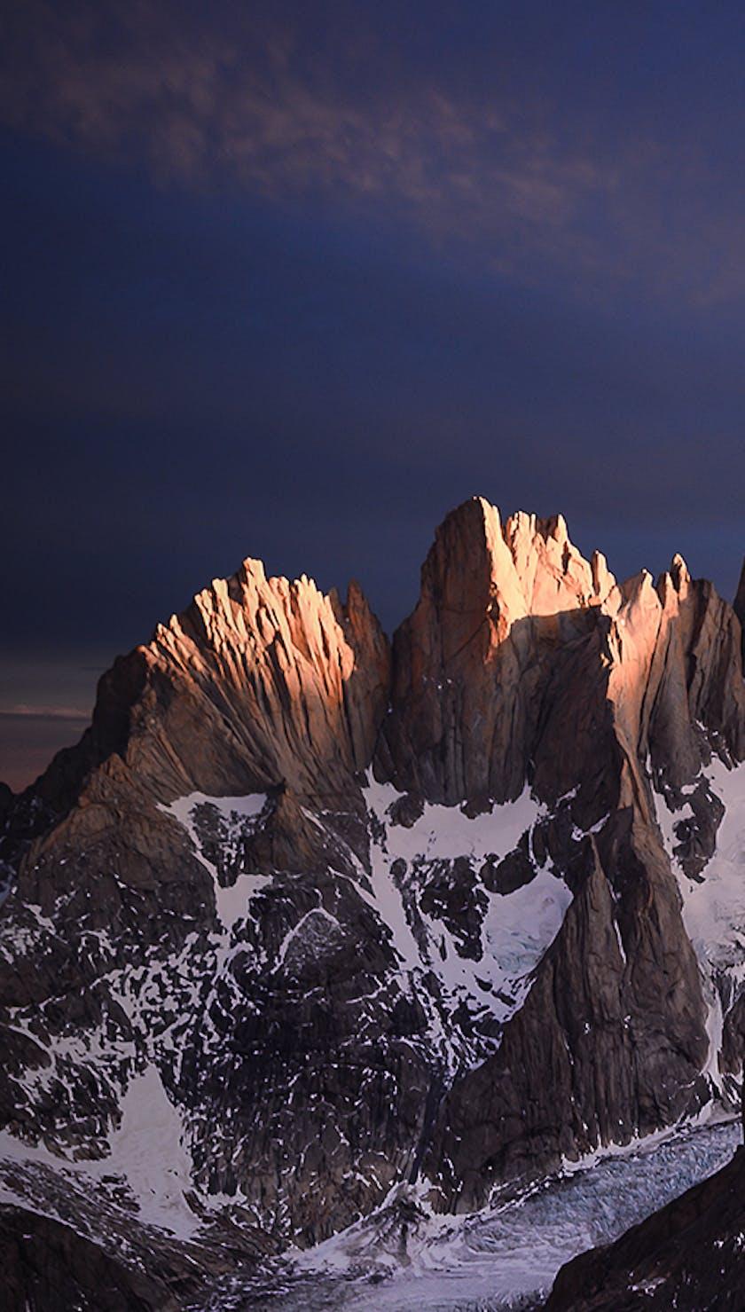 Mountain range in Patagonia