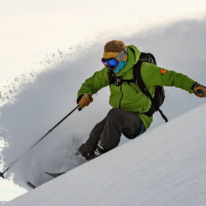 Photograph by Jeff Cricco of a man skiing