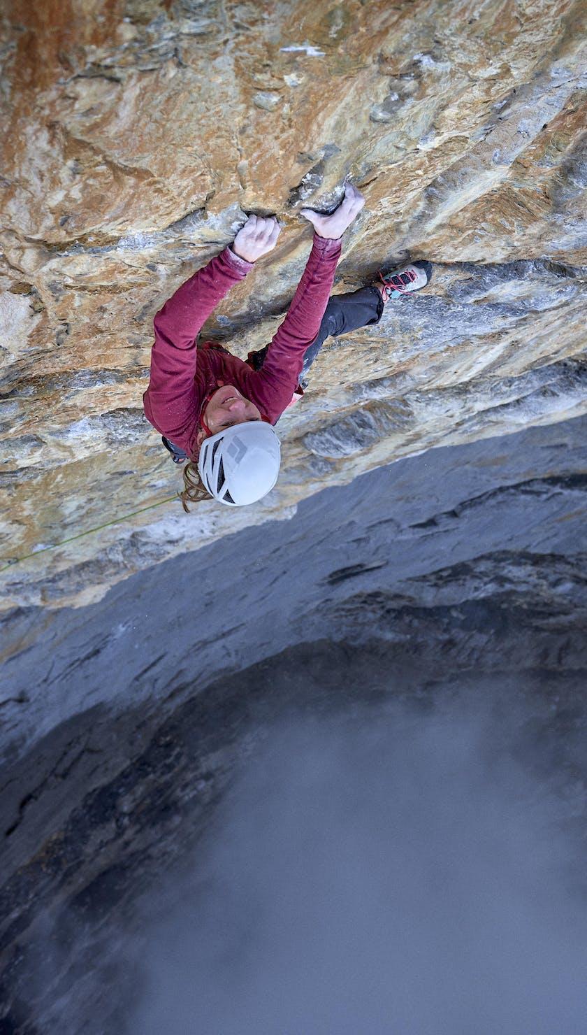 Black Diamond athlete Babsi Zangerl climbing the Eiger's North Face