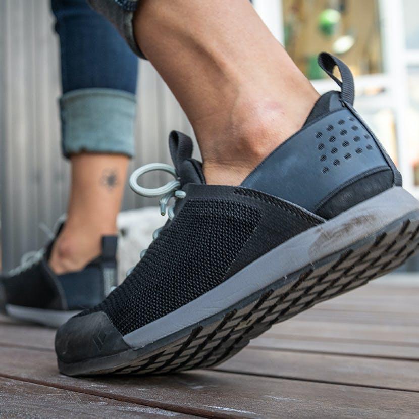 woman walking in BD Approach shoes