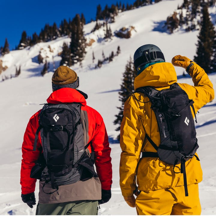 Black Diamond Athletes Eric Jackson and Parkin Costain wearing the Dawn Patrol 25L Pack.