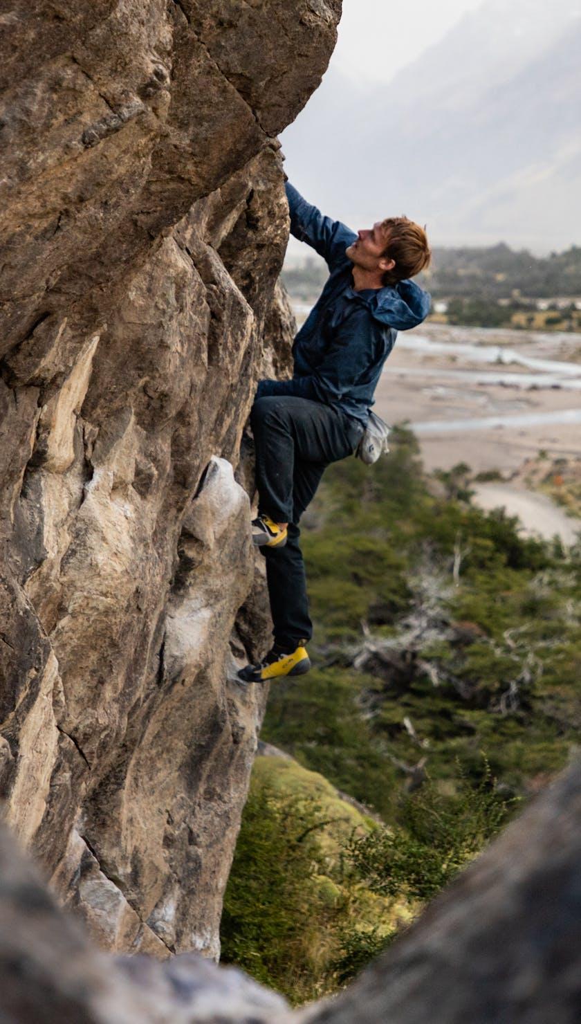 BD Athlete Nalle Hukkataival in Patagonia