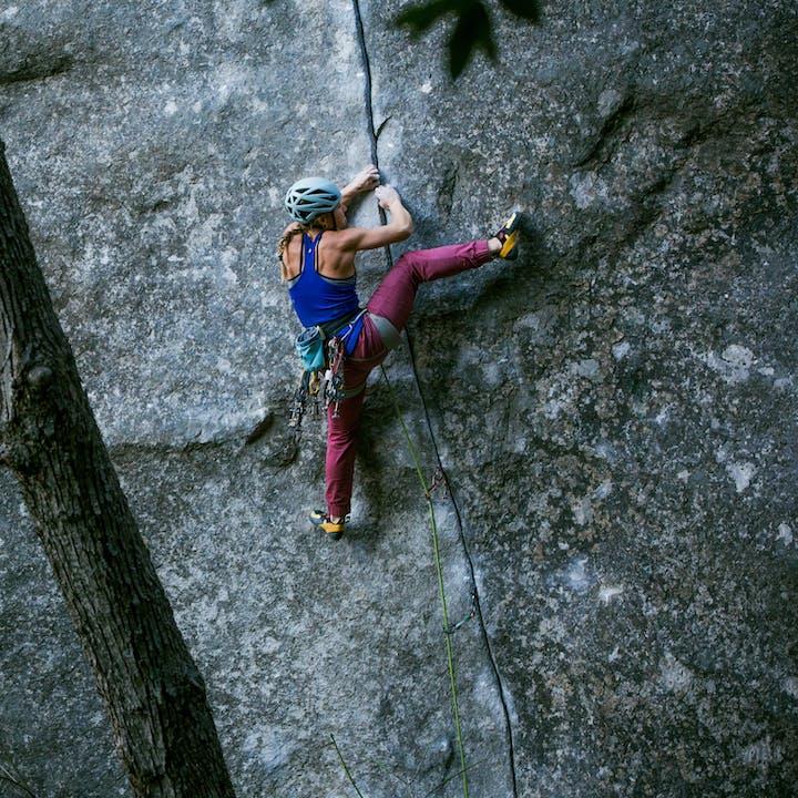 Hazel Findlay climbing magic line