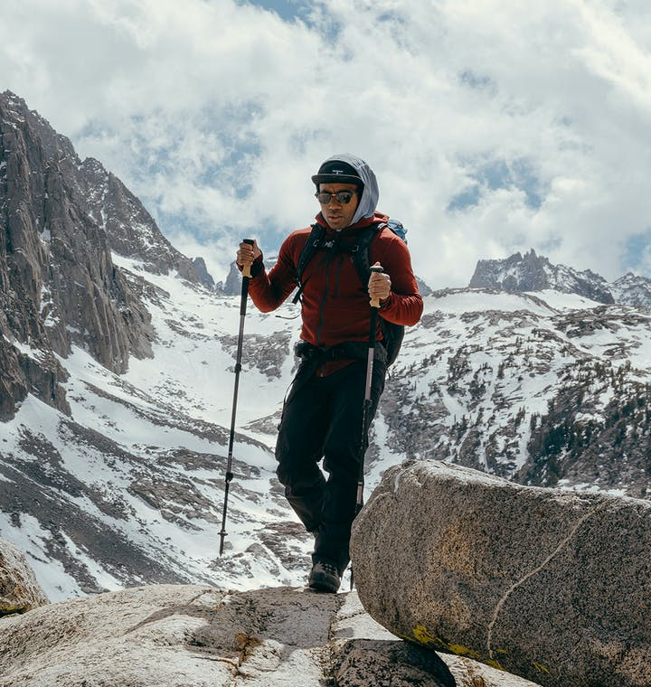 BD Ambassador Andrew King hiking in the Sierras