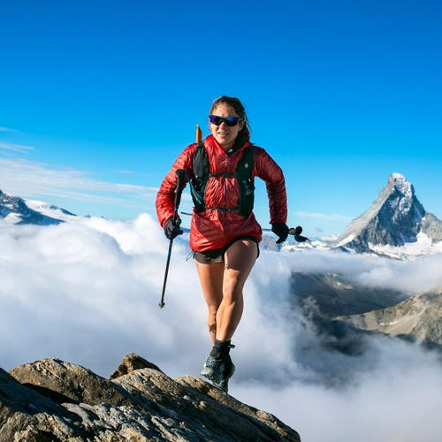BD Athlete Hillary Gerardi in the Alps