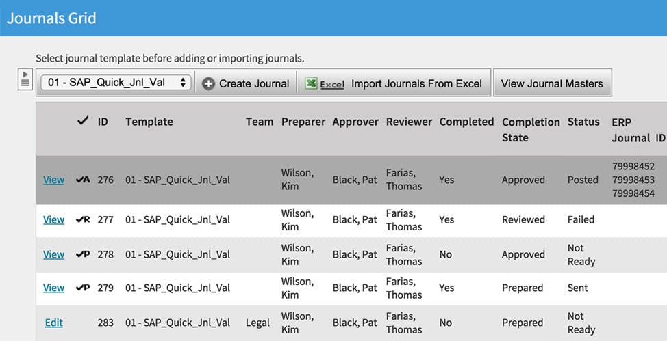 BlackLine | Centralize Journals Management Image
