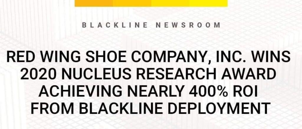 Nucleus Research ROI Case Study: BlackLine & Red Wing Shoe Company Image | BlackLine Magazine