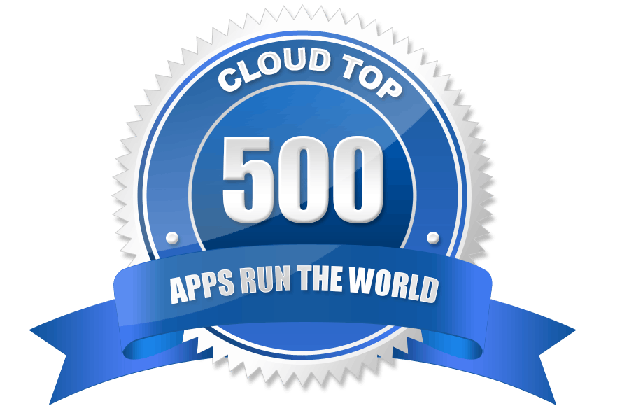 Apps Run the World named BlackLine No. 105 out of 500 Top Cloud List Image