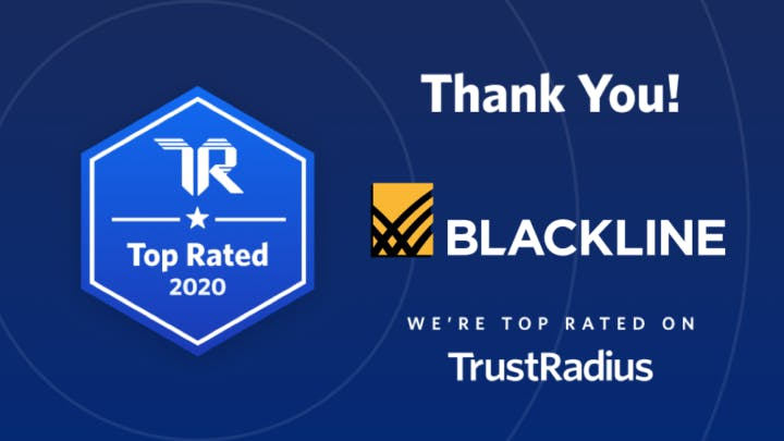 BlackLine Wins 2020 Top Rated Award From TrustRadius Image | BlackLine Magazine