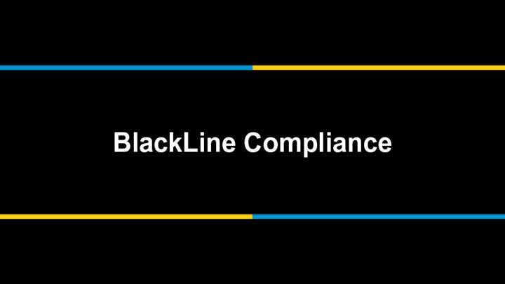 Introducing BlackLine Compliance