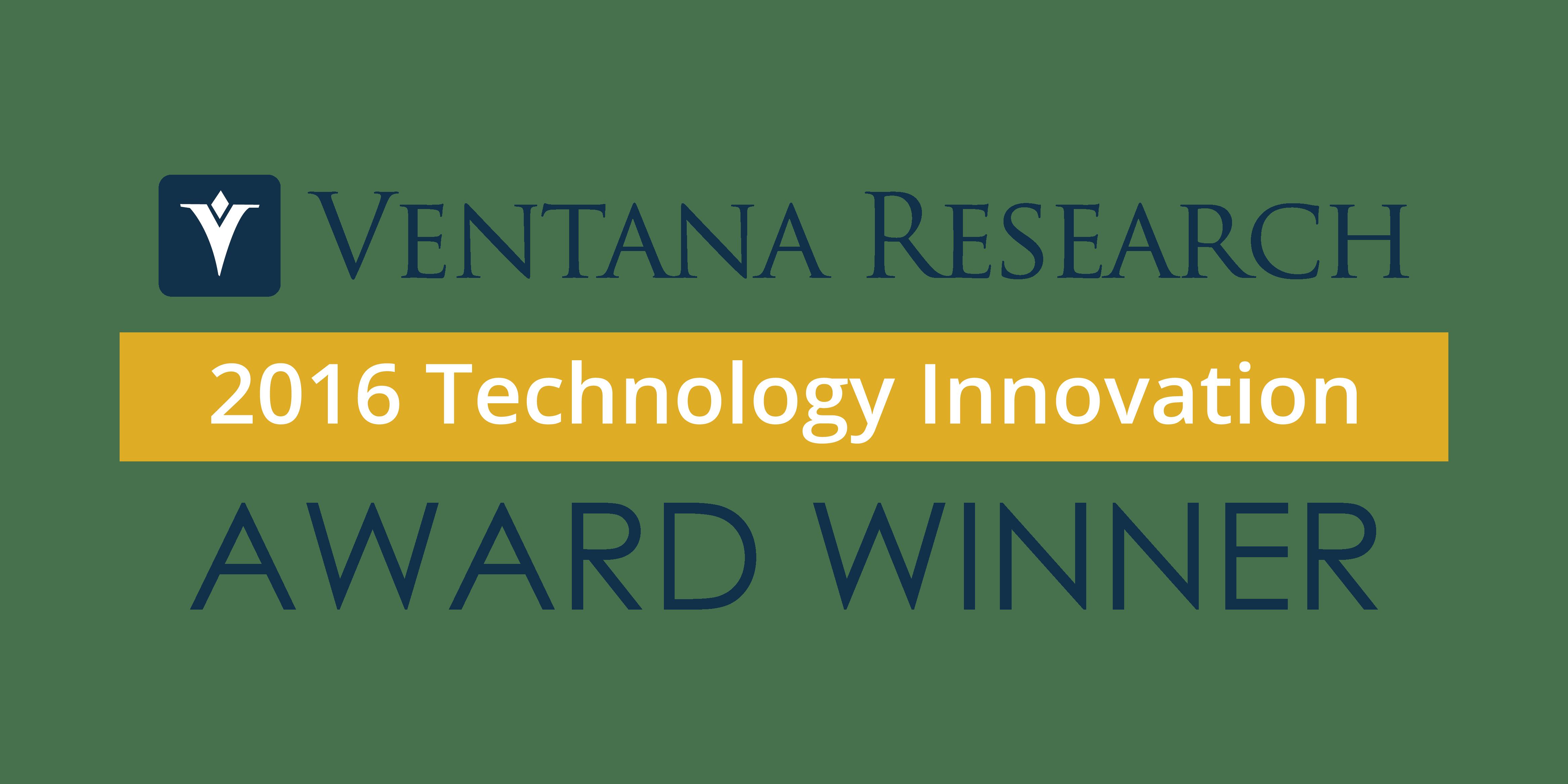 Ventana Research Technology Innovation Award Image