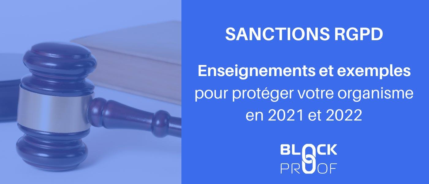 Sanctions RGPD enseignements et exemples