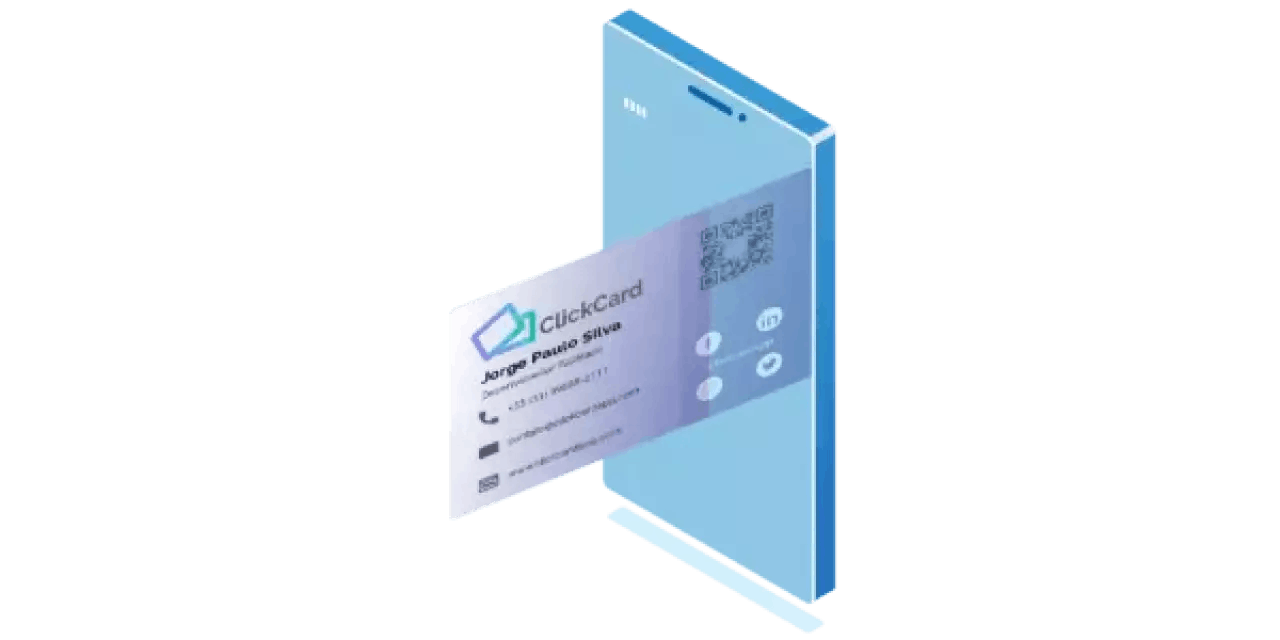 Traditional business card going digital